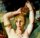 Esther's toilette, detail of painting by Theodore Chasseriau
