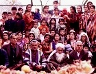 A large Middle Eastern family