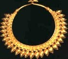 Solid gold necklace, from an ancient tomb at Nimrud