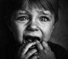 A terrified child