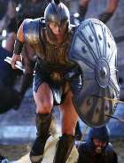 Reconstruction of armour from the 12th century BC, from the movie 'Troy'