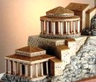Reconstruction of the ancient palace built by King Herod the Great at Masada