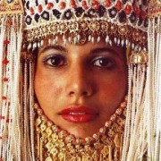Middle Eastern woman with ornamental headdress