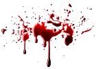 Spatter of blood