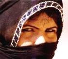Desert woman with veiled face