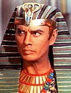 The Pharaoh (Yul Brynner) in the movie 'The Ten Commandments'