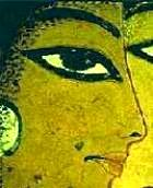 Ancient Egyptian wall painting, detail