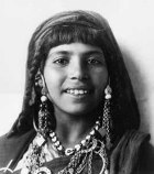 Beautiful young Middle Eastern woman wearing her jewelry