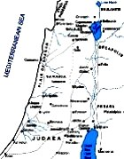 Maps of Israel and surrounding countries in the time of Jesus