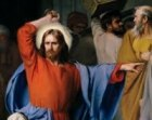 Jesus at the cleansing of the Temple