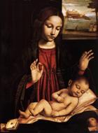 Mary and her newborn child Jesus