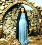 The pregnant Mary in 'The gospel according to St Matthew'