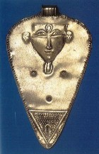 The Egyptian fertility goddess Hathor; her counterpart in Canaan was Anat