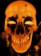 Face of a demon skull