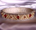 Pearl and ruby crown