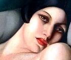 Seductive woman, painting