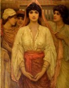 Rachel: young woman dressed for her wedding