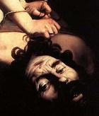 The head of Goliath, Caravaggio, detail